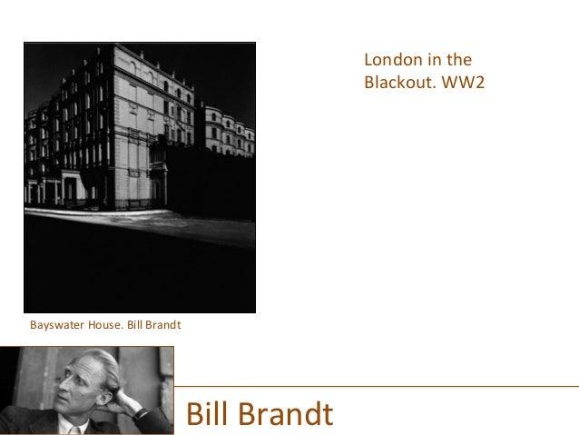 London  in  the   Blackout.  WW2      Bill  Brandt   Bayswater  House.  Bill  Brandt