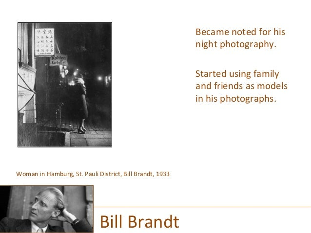 Became  noted  for  his   night  photography.      Started  using  family   and  friends  as  mo...
