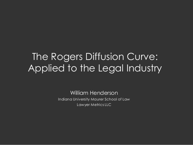 The Rogers Diffusion Curve: Applied to the Legal Industry William Henderson Indiana University Maurer School of Law Lawyer...