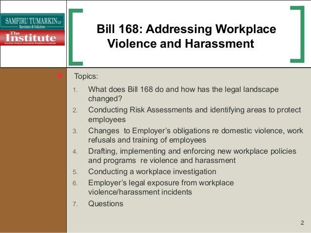 Understanding Employer Obligations Under Bill 168