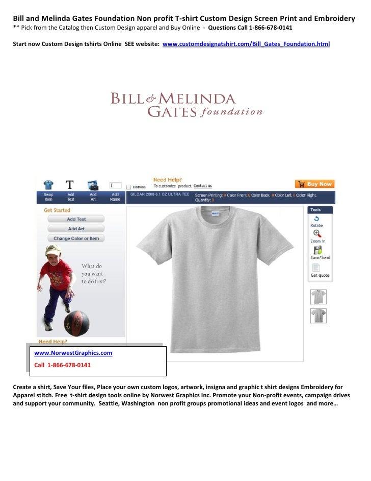 Bill and melinda gates foundation non profit t shirt for Non profit t shirt printing