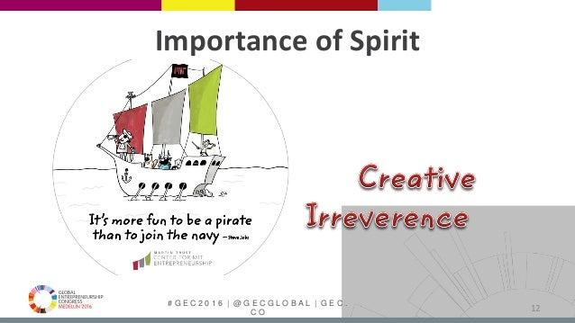 # G E C 2 0 1 6   @ G E C G L O B A L   G E C . C O Importance of Spirit 12