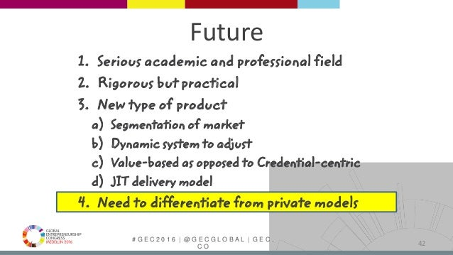 # G E C 2 0 1 6   @ G E C G L O B A L   G E C . C O Future 1. Serious academic and professional field 2. Rigorous but prac...