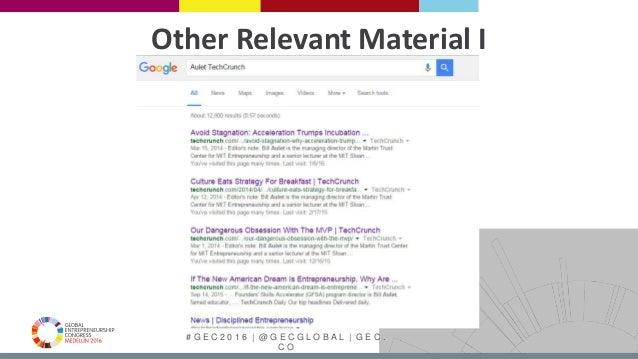# G E C 2 0 1 6   @ G E C G L O B A L   G E C . C O Other Relevant Material I