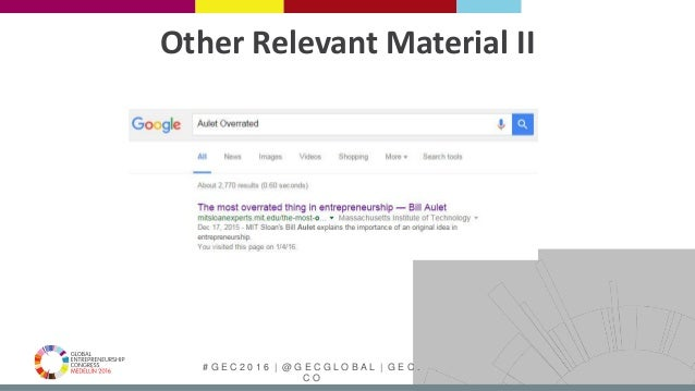 # G E C 2 0 1 6   @ G E C G L O B A L   G E C . C O Other Relevant Material II