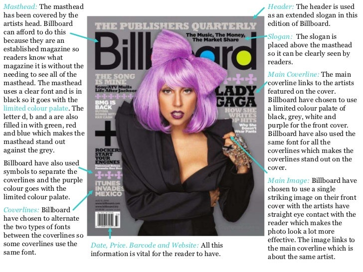 Header:  The header is used as an extended slogan in this edition of Billboard.   Slogan:  The slogan is placed above the ...
