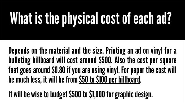 How Much Billboard Advertising Cost
