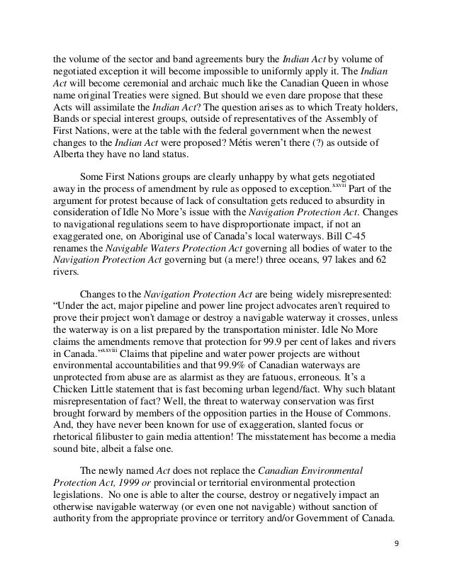 Bill c 45 and idle no more