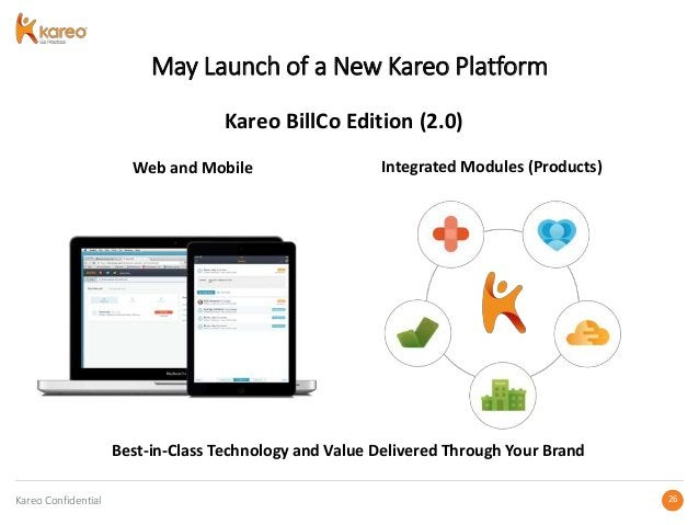 Kareo Confidential 2626 May Launch of a New Kareo Platform Web and Mobile Integrated Modules (Products) Best-in-Class Tech...