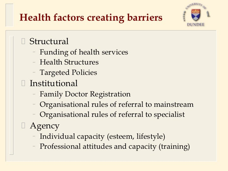 The barriers to healthcare encountered by single homeless people