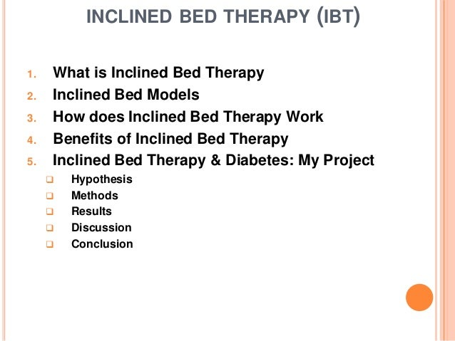 Inclined Bed Therapy and Diabetes Study