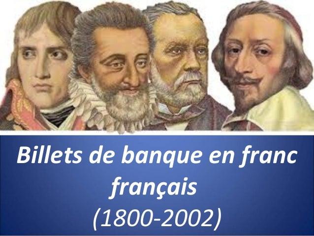 Billets de banque en francfrançais(1800-2002)