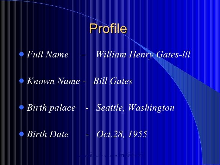 Full Name: Bill Gates