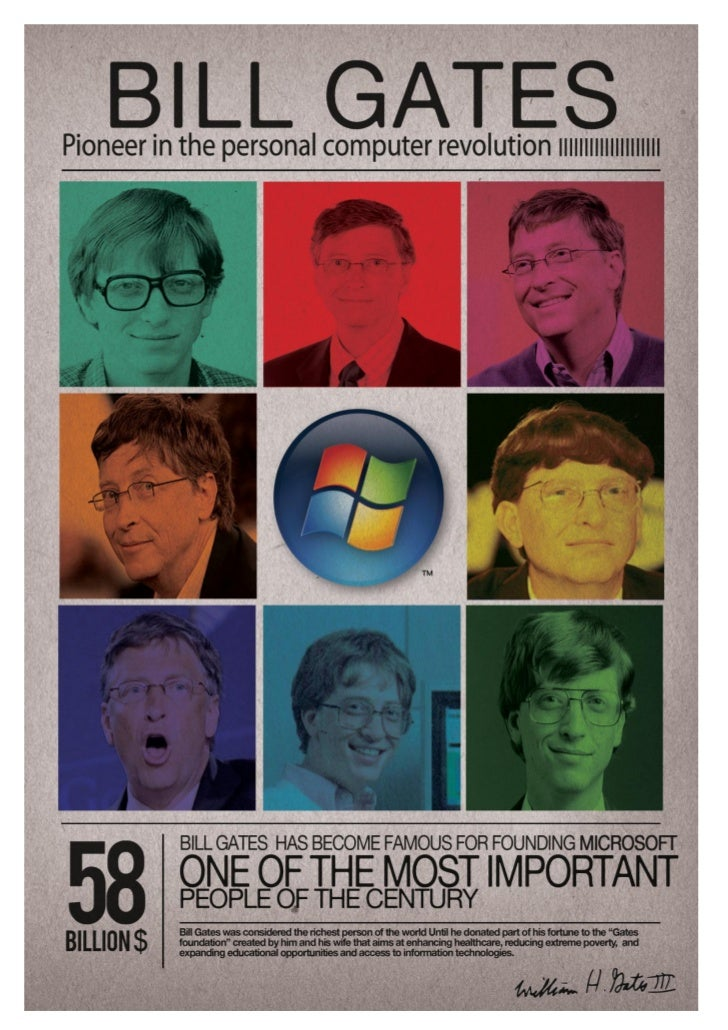bill gates profile essay Bill gates biography essayswhen you think of bill gates what comes to mind a  computer genius, the richest man in the world, a nerd when i think of bill he.