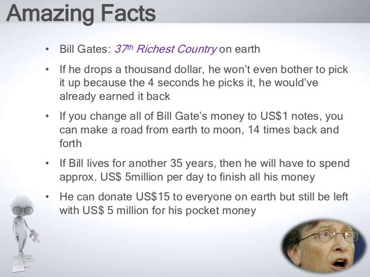 a look at the works of the richest man in the world bill gates Jeff bezos, ceo of the world's largest online retailer amazon, has yet again overtaken microsoft co-founder bill gates as the world's richest man.
