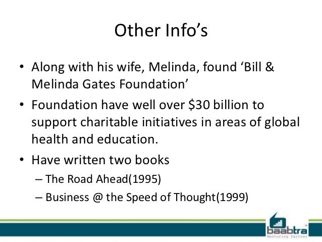 contributions of bill gates essay Bill gates is a gigantic leader in that innovative technology field in spite of being a harvard drop out, mr gates transformed he revolution of technology into an industry of computer software that is unmatched in recent history.