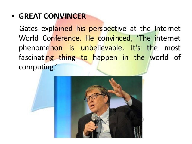the philosophies and achievements of bill gates William henry gates iii (born october 28, 1955) is an american business magnate, investor, author, philanthropist, humanitarian, and principal founder of the microsoft corporation.