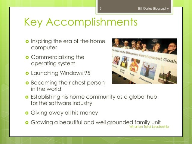 life of bill gates and his contribution to transforming the computer industry Bill gates founder and  (bill) h gates is  for personal computing have been central to the success of microsoft and the software industry under gates.