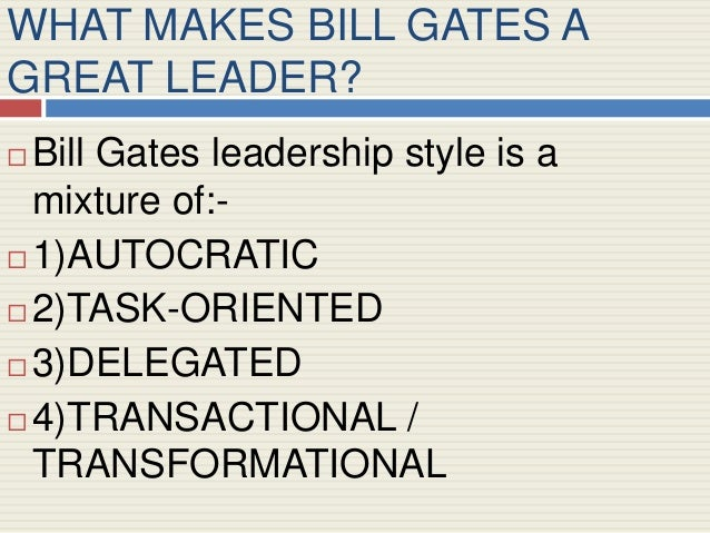 Bill Gates Leadership