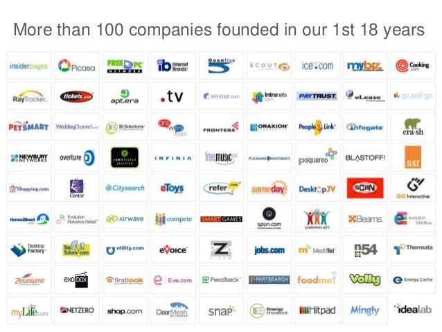 More than 100 companies founded in our 1st 18 years