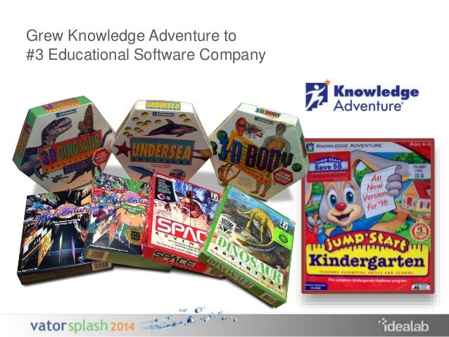 Grew Knowledge Adventure to  #3 Educational Software Company