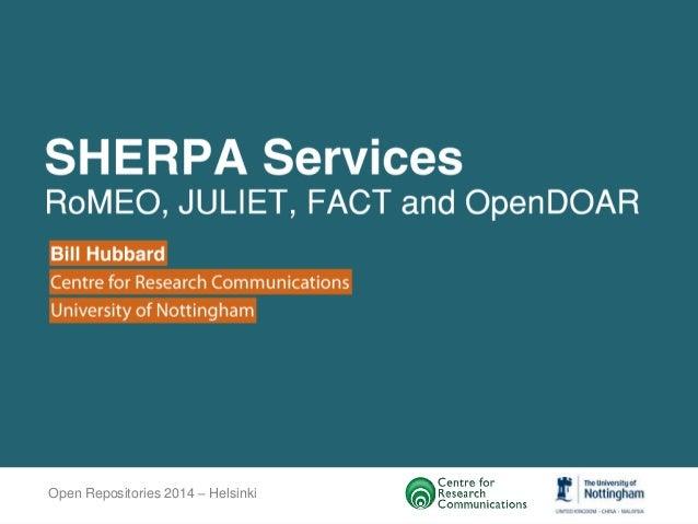 Open Repositories 2014 – Helsinki
