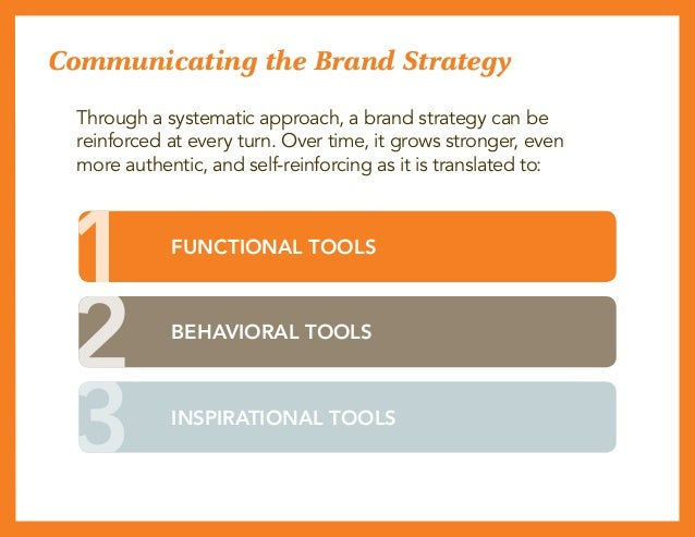 Communicating the Brand Strategy Through a systematic approach, a brand strategy can be reinforced at every turn. Over tim...
