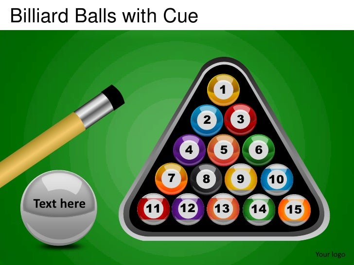 Billiard Balls with Cue                                  1                              2        3                        ...