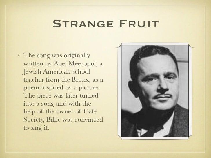 juicy fruit song strange fruit poem