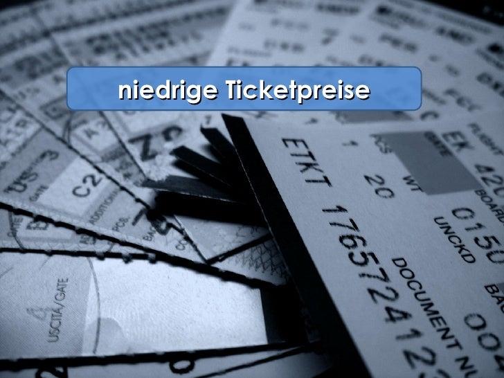 niedrige Ticketpreise