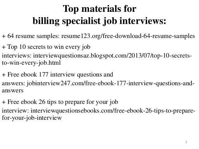 Billing Specialist Resume Sample Pdf Ebook