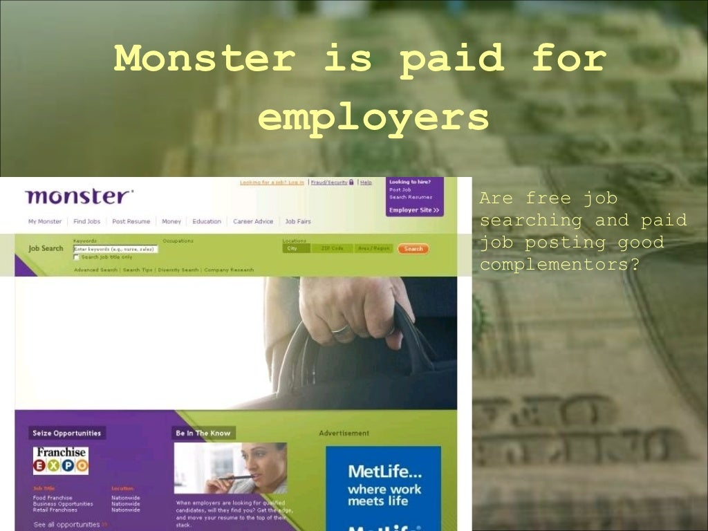 monster is paid for employers