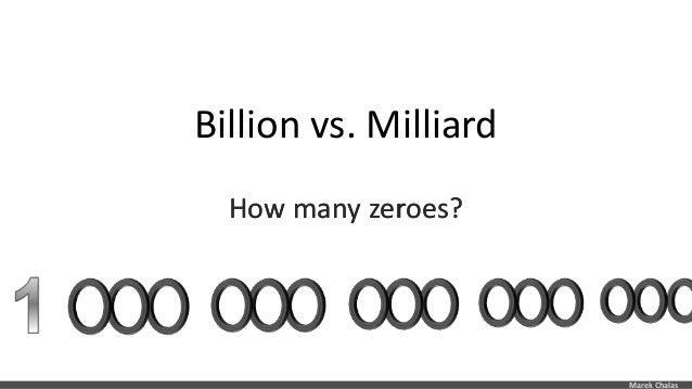 Billion is how many zeros