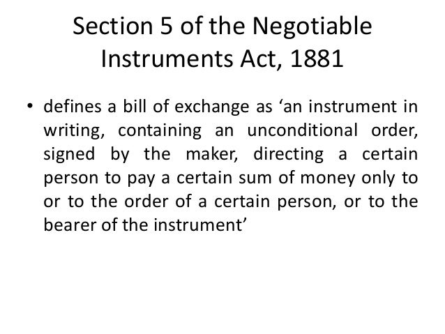 Conclusion on negotiable instruments
