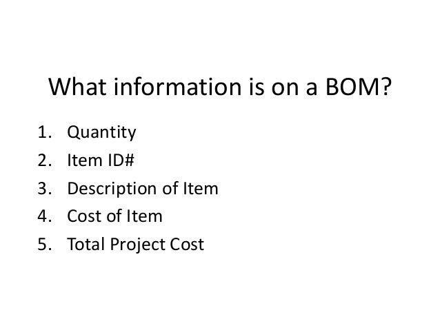 bill of material definition