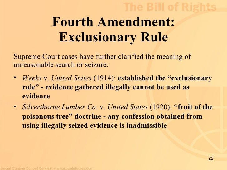 fourth amendment exceptions Fourth amendment-warrant requirement exceptions (part i) the founding fathers wrote the fourth amendment after their experiences with british officials who would use general warrants and writs of assistance to enter private homes and conduct searches to find evidence of any crime [1.