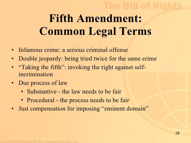 fifth amendment rights summary