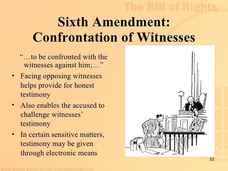 6th amendment and the courts Sixth amendment activities apply landmark supreme court cases to  contemporary scenarios related to your right to counsel and your right to a fair  trial.