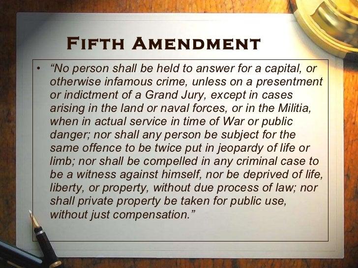 19 Fifth Amendment