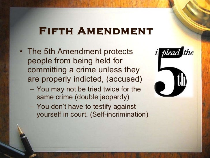 an analysis of the fifth amendment rights of the accused Background summary & questions what rights of the accused does the fifth amendment you are probably learning about the rights of the accused in a government.