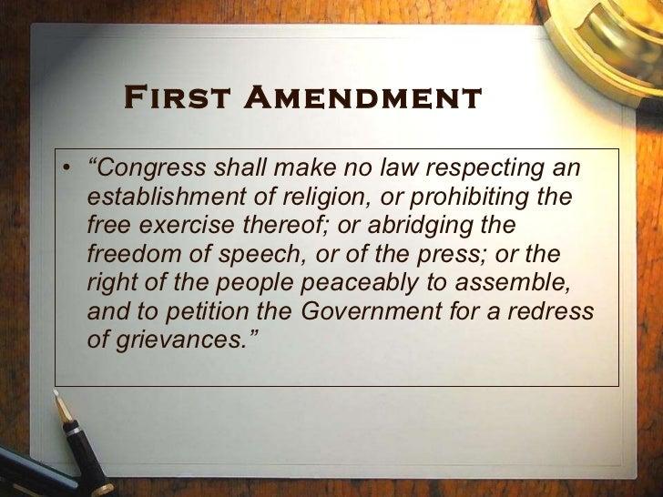 9 First Amendment