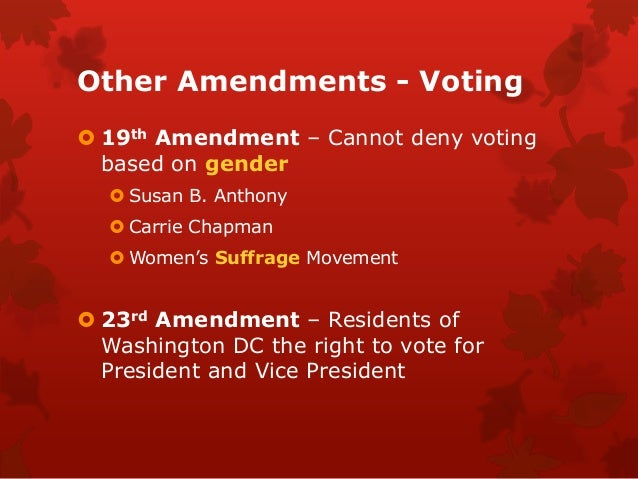 the 26th amendment essay The equal rights amendment essay what could be more important than the equality of rights for all 26th amendment the 26th amendment was proposed on.