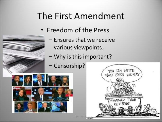A discussion on the first amendment and censorship in the united states