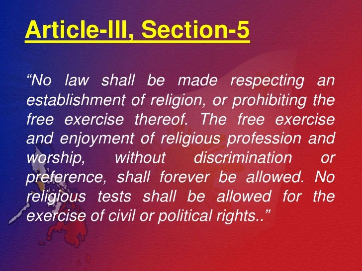Bill of rights article iii; section 3 to 6