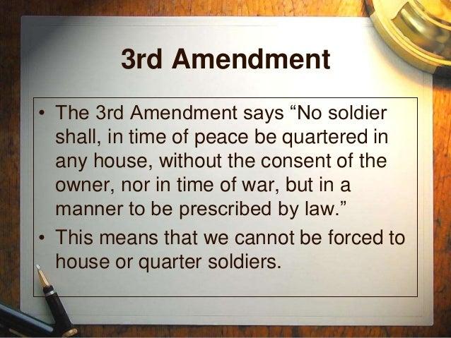 3rd amendment pictures