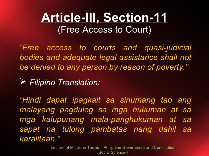 article 11 philippine constitution summary