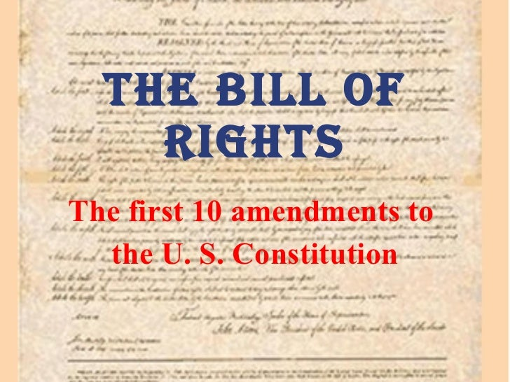 an interpretation of the bill of rights as stipulated in the first amendment of us constitution