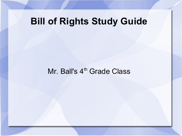 Bill Of Rights Test Review