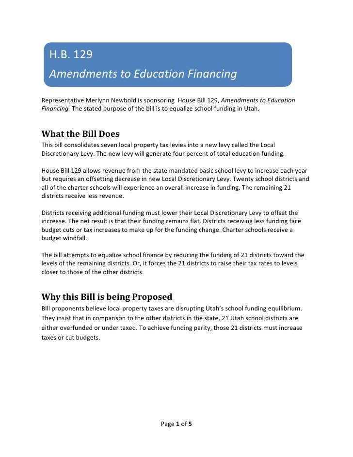 H.B.129     AmendmentstoEducationFinancing                                                                            ...