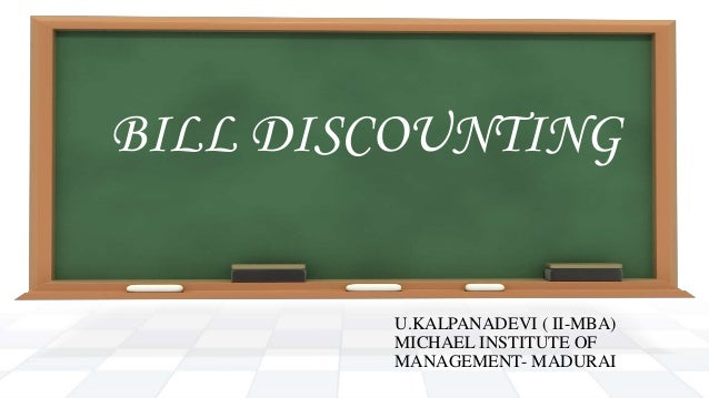 Discounting of bills ppt to pdf